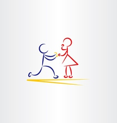 Man proposing woman icon vector