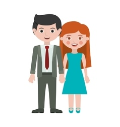 Couple in suit formal with taken hands vector