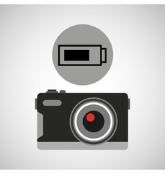 Retro camera photographic battery vector