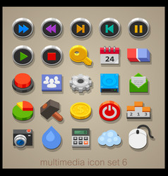 Multimedia icon set-6 vector