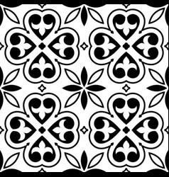 Spanish tiles pattern moroccan orportuguese tile vector