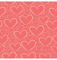Seamless pattern with silhouettes of hearts vector