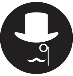 Bowler hat and moustache vector