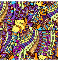 Seamless decorative goat background vector