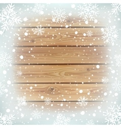 Winter background with wooden planks vector