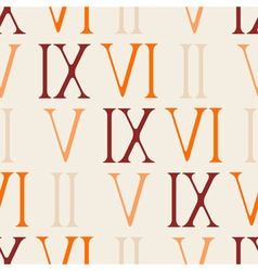 Seamless background with roman numerals vector