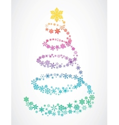 Christmas tree snowflakes vector
