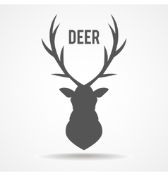 Deer head - vector