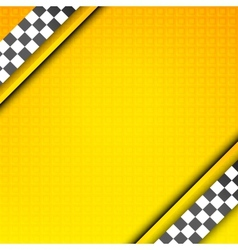 Racing template taxi backdrop vector image