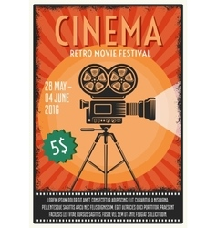Retro Movie Festival Poster vector image