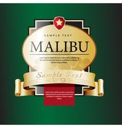Ornate labels malibu vector