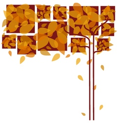 Abstract colorful autumn leaves vector image vector image
