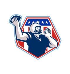 American football quarterback shield vector