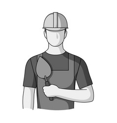 Builder masonprofessions single icon in vector
