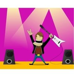 Cartoon of Rock Man vector image