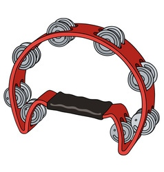 Classic red tambourine vector