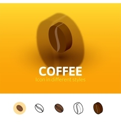 Coffee icon in different style vector