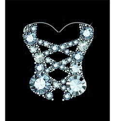Diamond corset vector