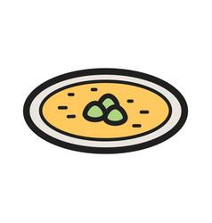 Dumpling soup vector