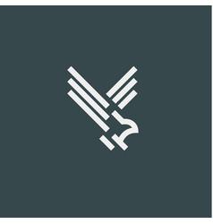 eagle symbol minimalist style flat line vector image vector image