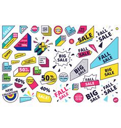 Flat design sale website banner template set vector