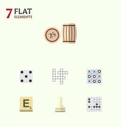 flat icon entertainment set of backgammon mahjong vector image