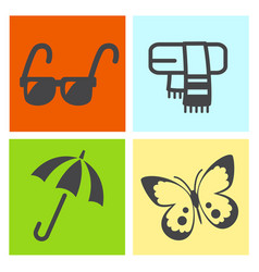 Four season icon vector