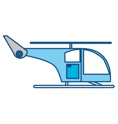 Isolated cute helicopter vector