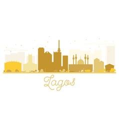 Lagos City skyline golden silhouette vector image vector image