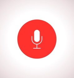 Microphone icon in red circle vector