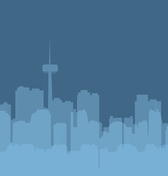 Original contour of the big city on a blue vector image vector image