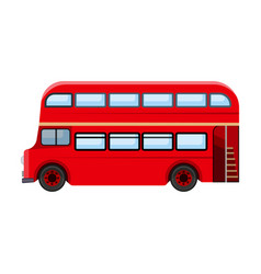 Passenger bus single icon in cartoon style for vector