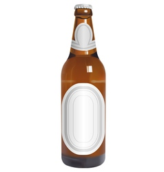 realistic beer bottle with blank labels vector image vector image