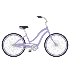 Retro woman sport bicycle on a white background vector