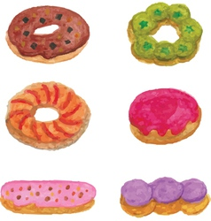 Set of Donut vector image vector image