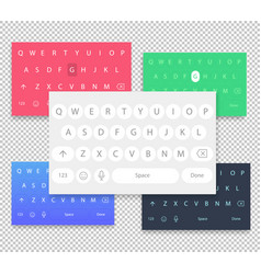 Set of qwerty mobile keyboards keys vector