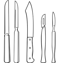 Surgical instruments vector image