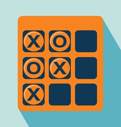 Tic tac toe icon vector