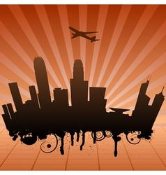 urban landscape of Hongkong vector image vector image