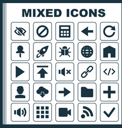User icons set collection of ahead forbidden vector