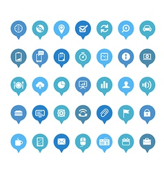 Web icons in speech clouds collection vector image vector image