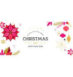 white merry christmas greeting card vector image vector image