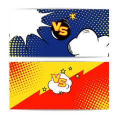 Fight bubble comics styl vector