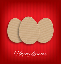 cardboard easter eggs vector image
