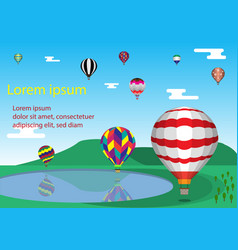 hot air ballons in the sky vector image
