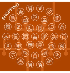 Line icons shopping vector