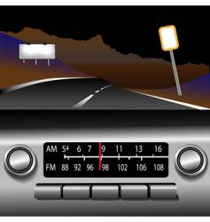 dashboard radio vector image
