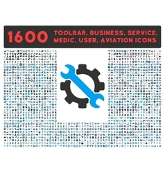 Service icon with large pictogram collection vector