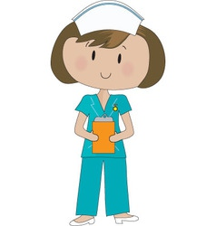 Nurse scrubs vector