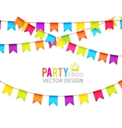 Party flags design with vector